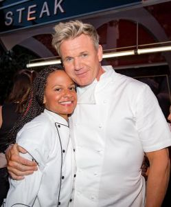 Ariel Malone and Gordon Ramsay