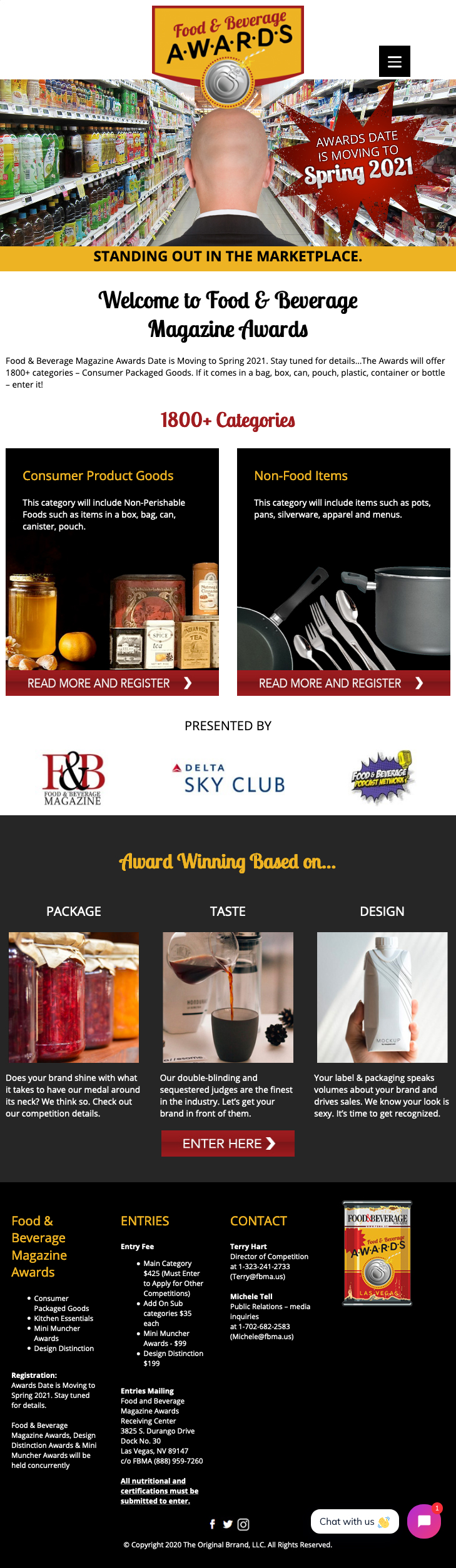 Food and Beverage Awards