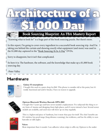 Blueprint for a 1000 book sourcing day fba mastery book sourcing blueprint malvernweather Gallery