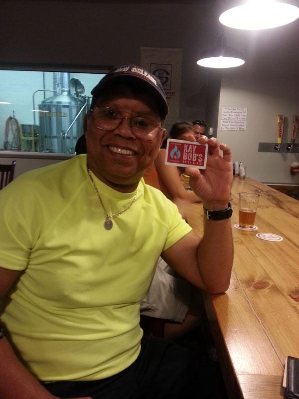 FBC 15 Bobby wins a gift card to Kay Bob's