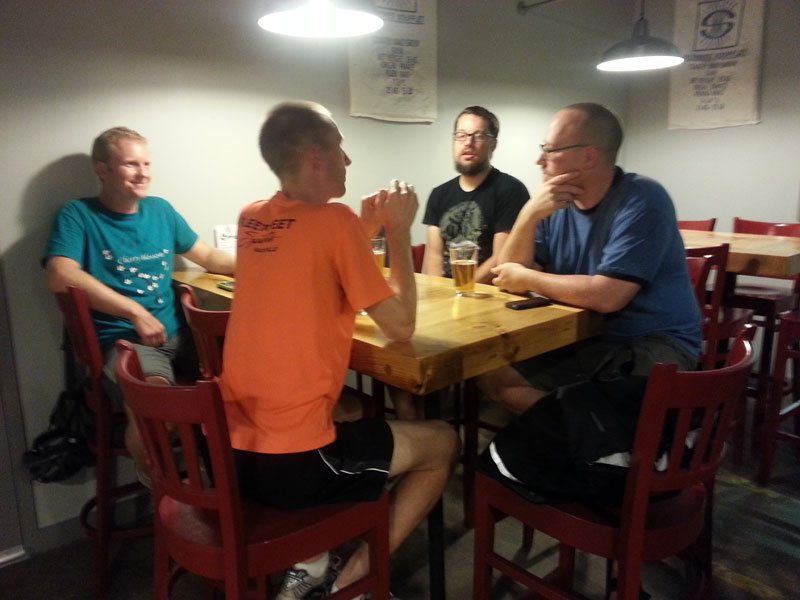 FBC 15 Riders chat at Czann's