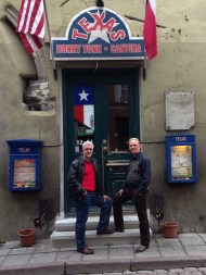 Mike McKibben (L), Herbert Murd at TEXAS Honky Tonk & Cantina, Tallinn, Estonia (2013). Photo: N. McKibben.