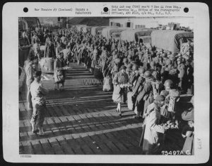 Air Force Personnel Are Greeted With Refreshments Upon Their Arrival At A Sea Port Somewhere In Iceland. 2Nd Service Group, 28 June 1944.
