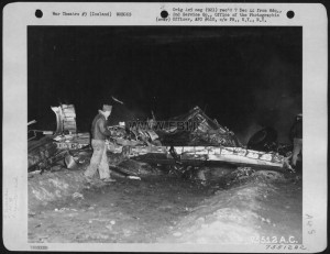 Consolidated B-24 (Ac #42-51535) Which Crashed Somewhere In Iceland, In Spite Of The Efforts Which Were Made By Hard Working Fire-Fighters. 2Nd Service Group, 24 August 1944.1