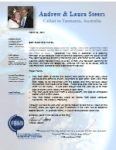 Andrew Steers Prayer Letter:  Man Searching for the Truth Trusts Christ