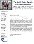Keith Baker Prayer Letter:  Urgent Prayer Request