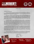Brian Hebert Prayer Letter:  Going South in a Hurry