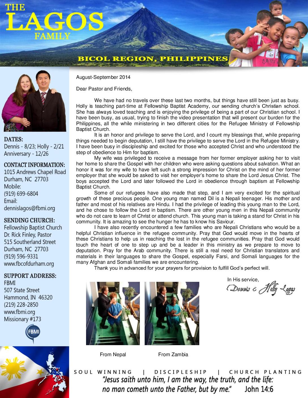 thumbnail of Dennis Lagos Aug-Sep 2014 Prayer Letter
