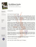 Justin Williams Prayer Letter:  An Unexpected Blessing