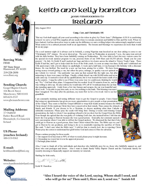 thumbnail of Keith Hamilton Jul-Aug 2014 Prayer Letter