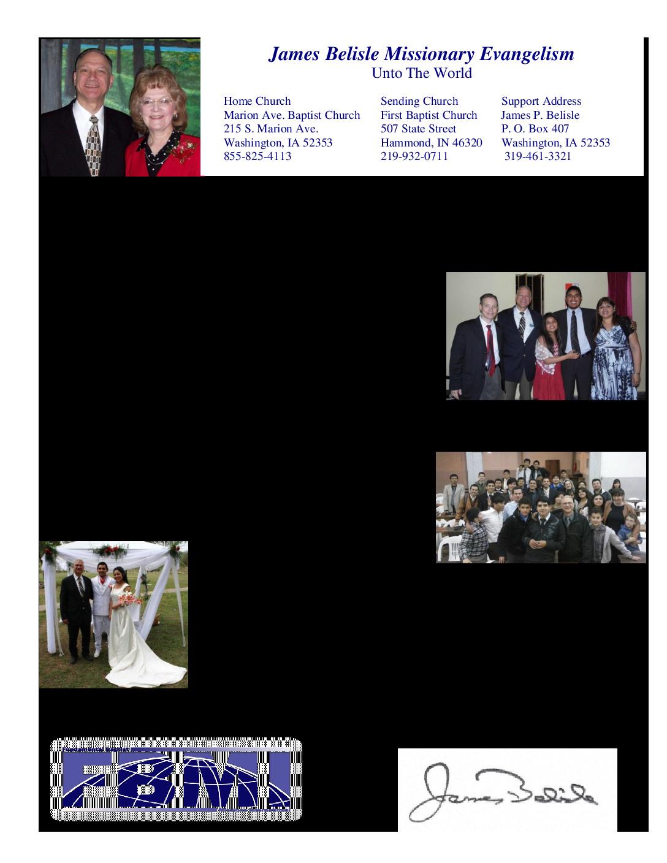 thumbnail of James Belisle October 2014 Prayer Letter