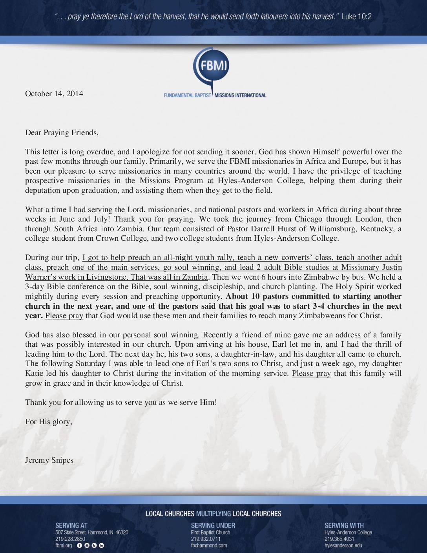 thumbnail of Jeremy Snipes October 2014 Prayer Letter