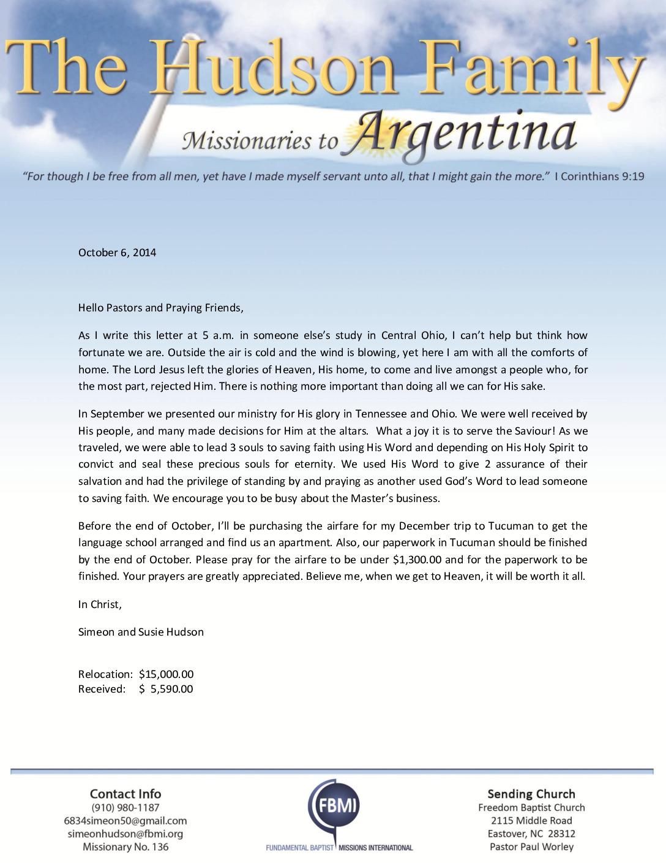 thumbnail of Simeon Hudson October 2014 Prayer Letter