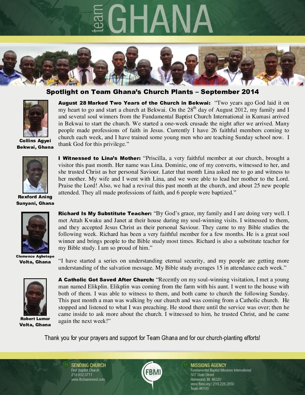 thumbnail of Team Ghana Septebmer 2014 National Pastor Update