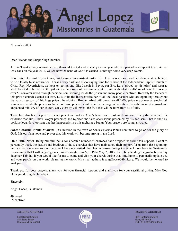 thumbnail of Angel Lopez November 2014 Prayer Letter