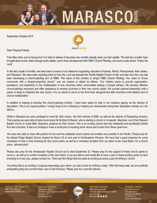 thumbnail of Sam Marasco Sep-Oct 2014 Prayer Letter