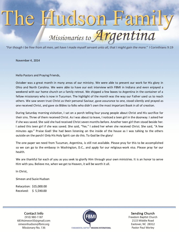 thumbnail of Simeon Hudson November 2014 Prayer Letter