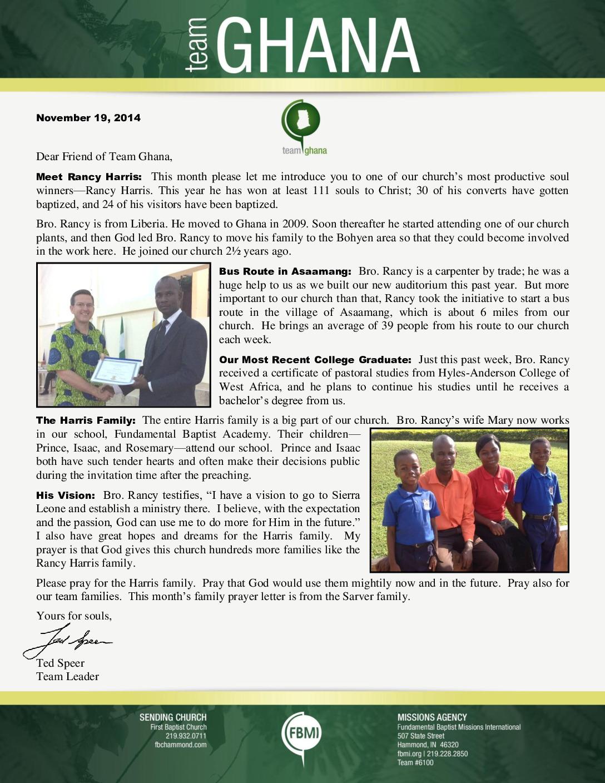 thumbnail of Team Ghana November 2014 Update