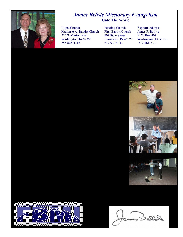 thumbnail of James Belisle December 2014 Prayer Letter