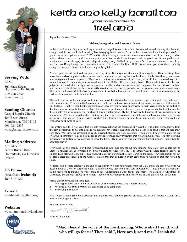 thumbnail of Keith Hamilton Sep-Oct 2014 Prayer Letter