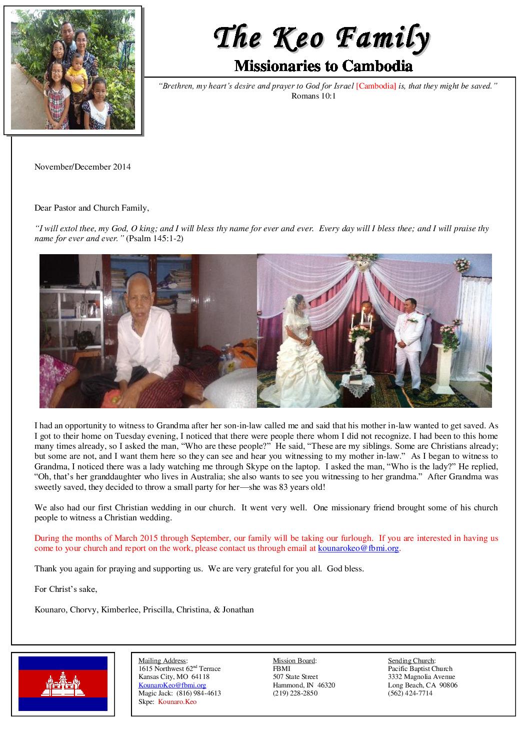 thumbnail of Kounaro Keo Nov-Dec 2014 Prayer Letter