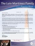 Luis Martinez Prayer Letter:  Grateful for God's Blessings in 2014