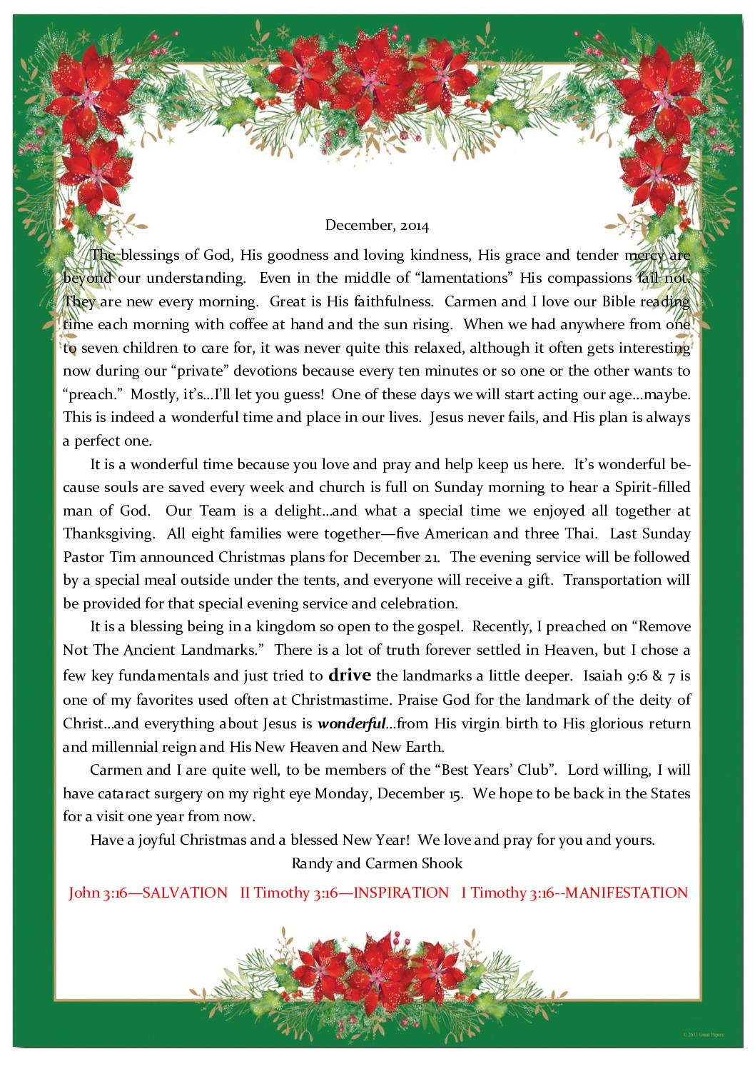 thumbnail of Randy Shook December 2014 Prayer Letter