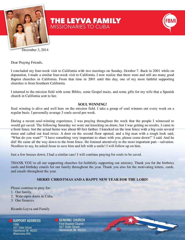 thumbnail of Ricardo Leyva December 2014 Prayer Letter