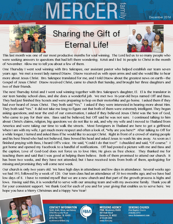 thumbnail of Scott Mercer December 2014 Prayer Letter