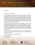 Tom Dinius Prayer Letter:  Letter of Explanation