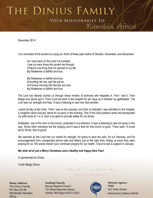 thumbnail of Tom Dinius Oct-Dec 2014 Prayer Letter