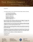 Tom Dinius Prayer Letter:  God Is Faithful and True