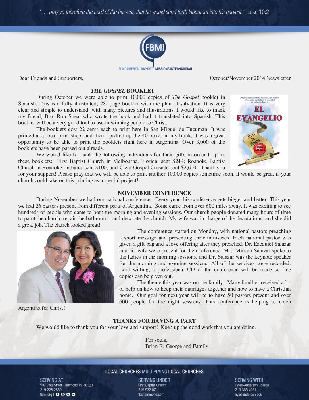 thumbnail of Brian George Oct-Nov 2014 Prayer Letter