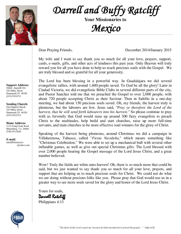 thumbnail of Darrell Ratcliff Dec 2014-Jan 2015 Prayer Letter