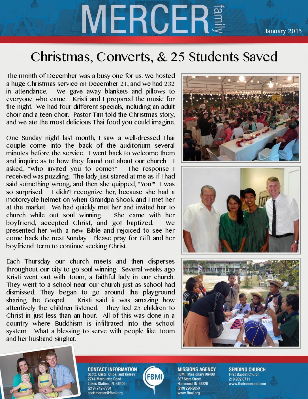 thumbnail of Scott Mercer January 2015 Prayer Letter