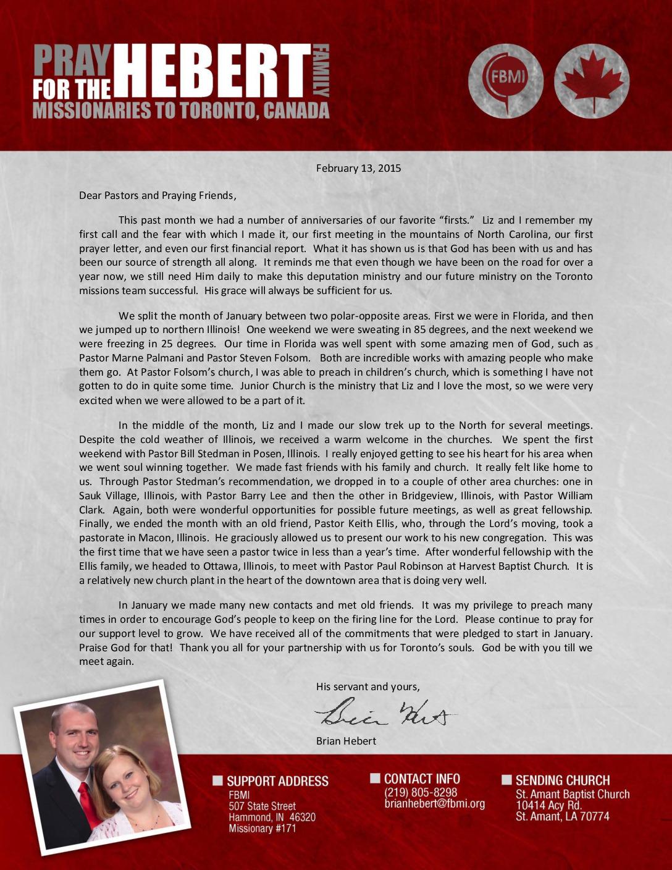 thumbnail of Brian Hebert February 2015 Prayer Letter