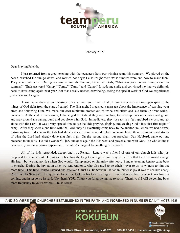 thumbnail of Daniel Kokubun February 2015 Prayer Letter