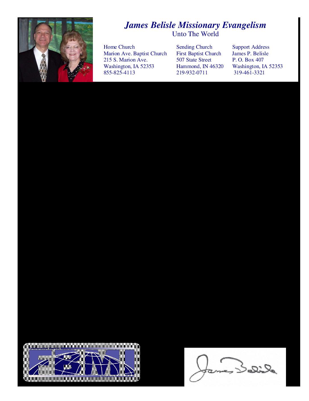 thumbnail of James Belisle February 2015 Prayer Letter