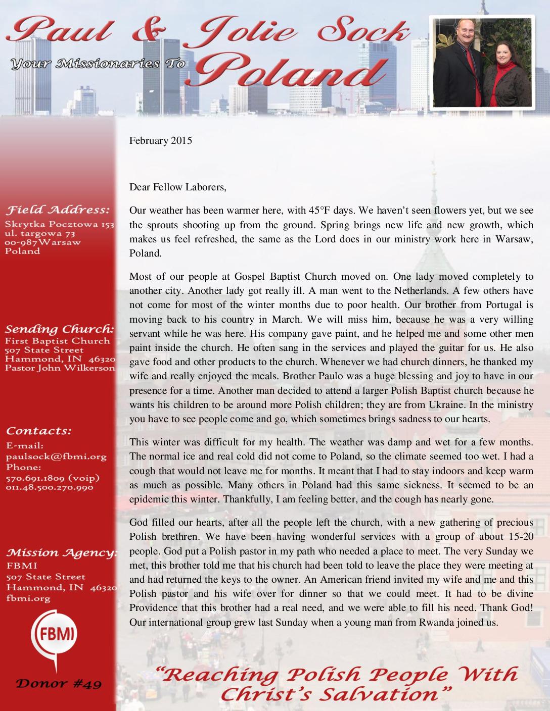 thumbnail of Paul Sock February 2015 Prayer Letter