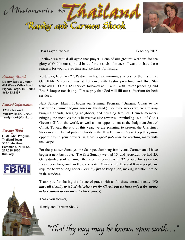 thumbnail of Rand Shook February 2015 Prayer Letter