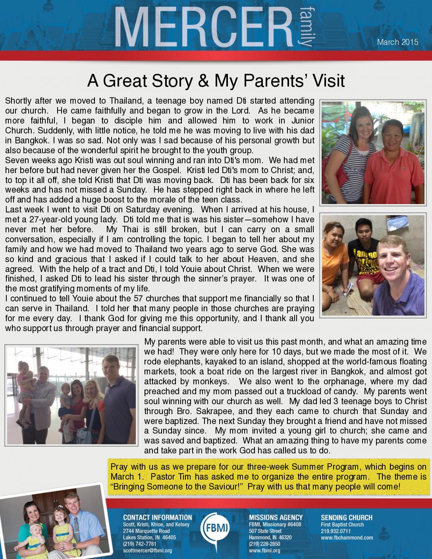 thumbnail of Scott Mercer March 2015 Prayer Letter