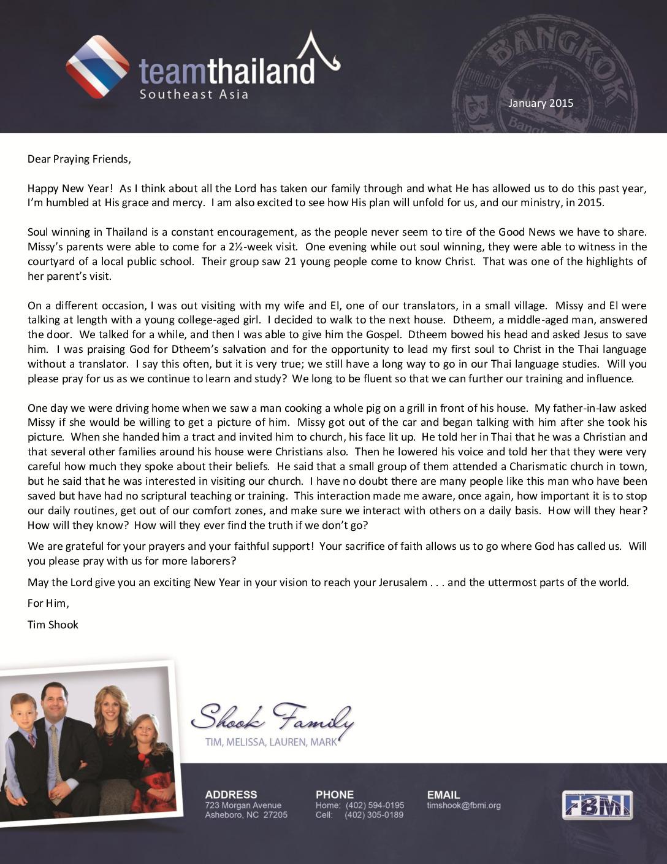 thumbnail of Tim Shook January 2015 Prayer Letter