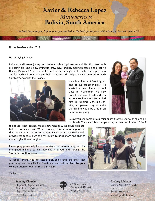 thumbnail of Xavier Lopez Nov-Dec 2014 Prayer Letter