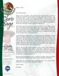 Chris Sage Prayer Letter:  Great Blessings!