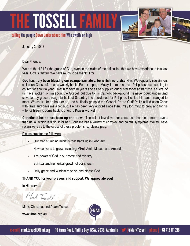thumbnail of Mark Tossell January 2013 Prayer Letter