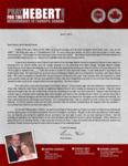 Brian Hebert Prayer Letter:  Learning Valuable Lessons