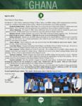 Team Ghana Update:  Recent Bible College Graduates