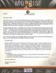 "Peter Morris Prayer Letter:  Pastor Says ""Thank you"""