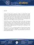 TAN Prayer Letter:  Presenting TAN in Illinois