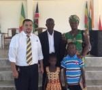 Brother David Sarabia with Mr. and Mrs. Oppong, a deaf couple, and their children